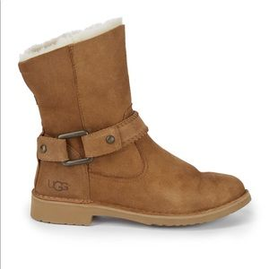 UGG Cedric fur lined leather boots